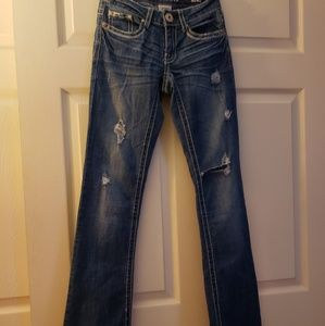 Hydraulic Distressed Lola Slim boot cut jeans